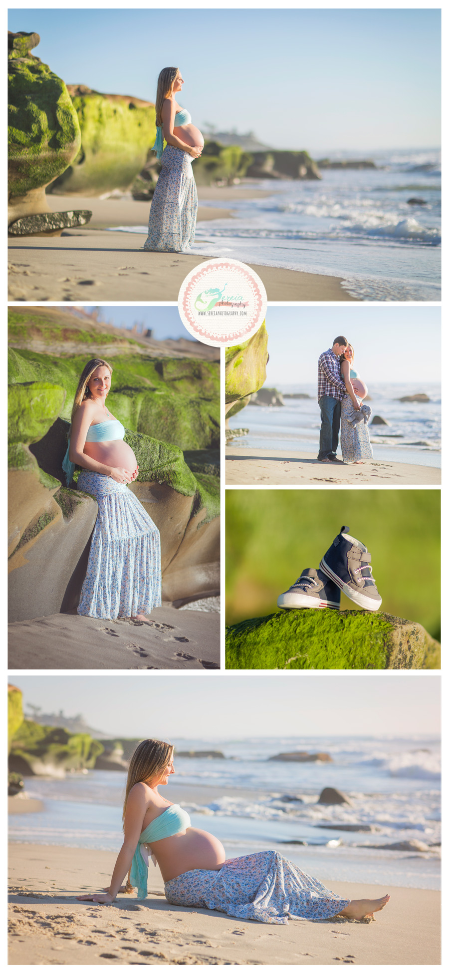 Maternity Photo Session at Windandsea Beach - La Jolla