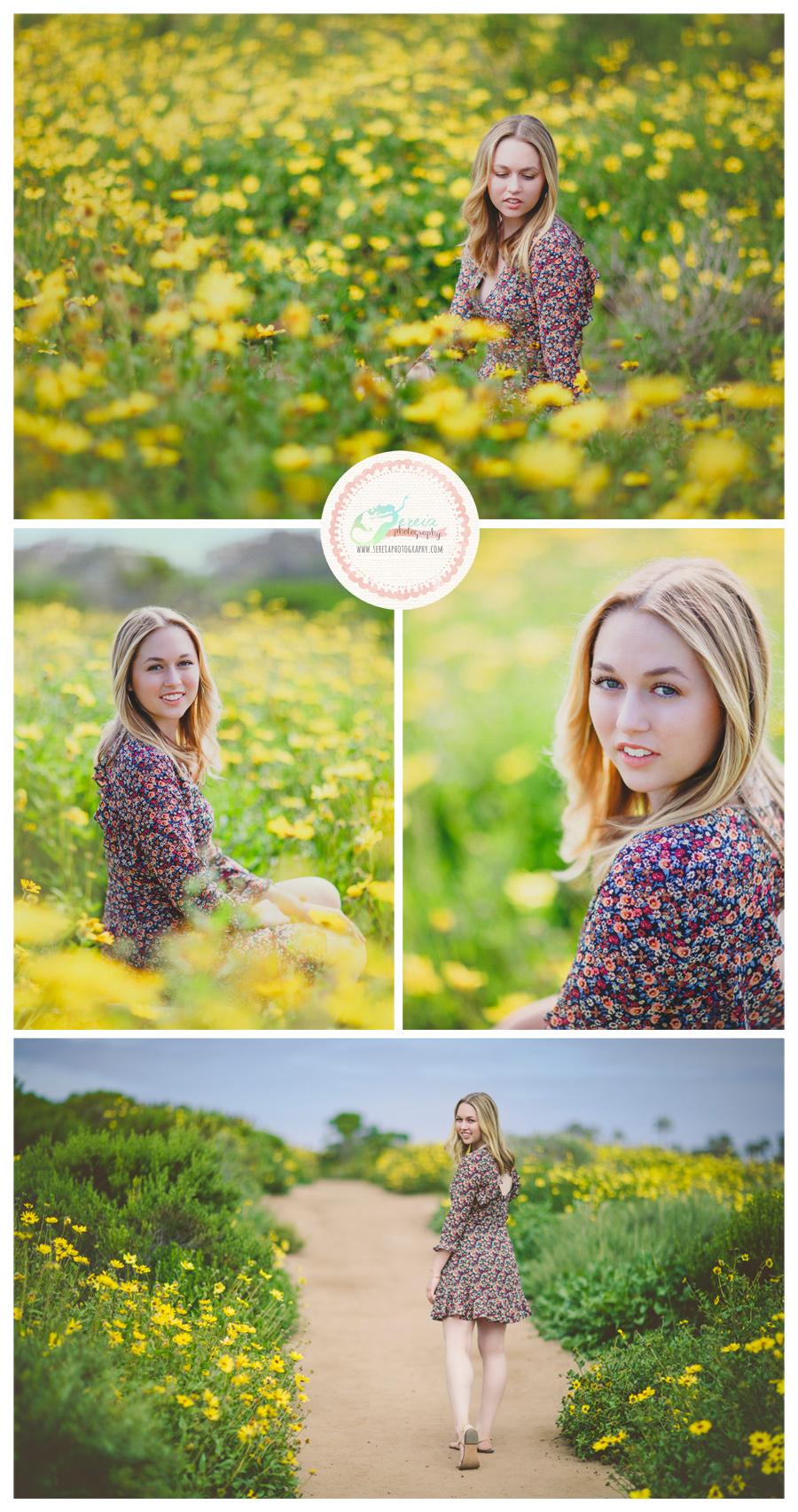 High School Senior Photos San Diego Wild Flowers