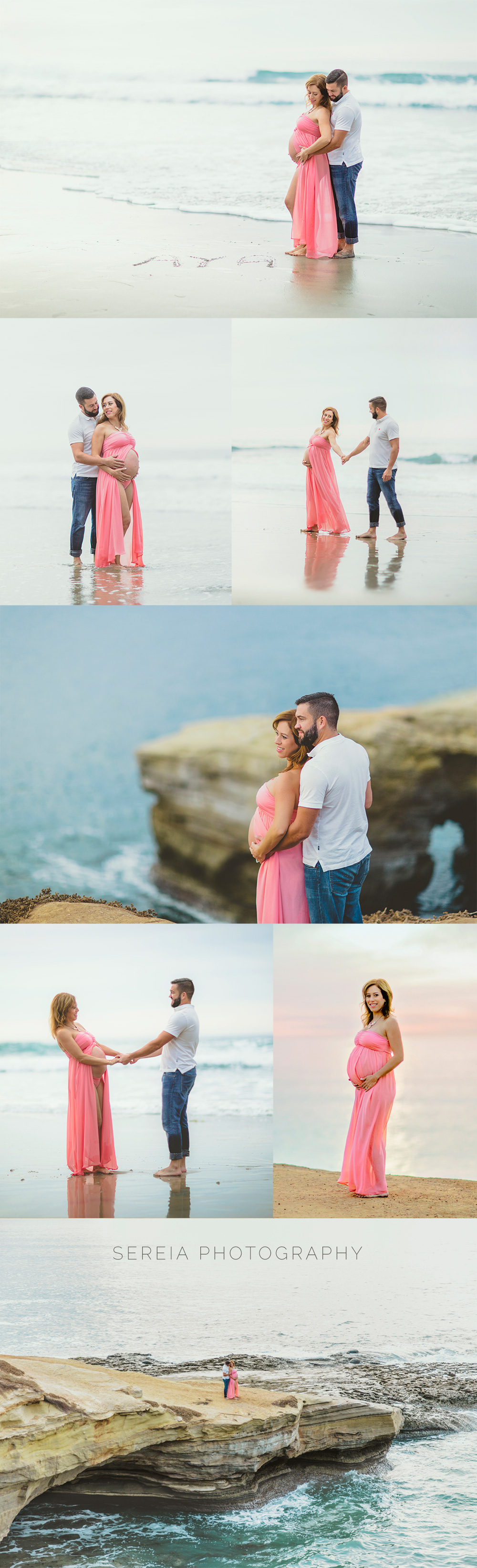 Beach Maternity Photos Sunset Cliffs San Diego