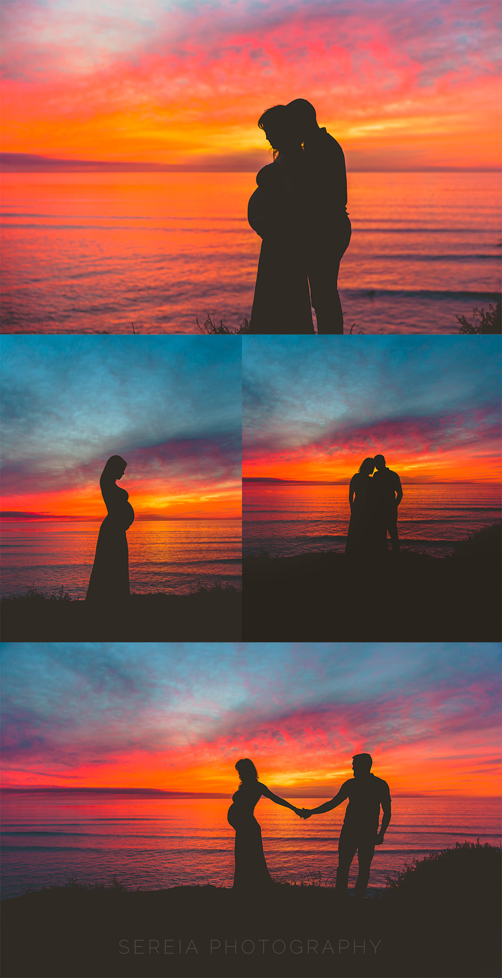 Maternity Photos at the Beach during sunset