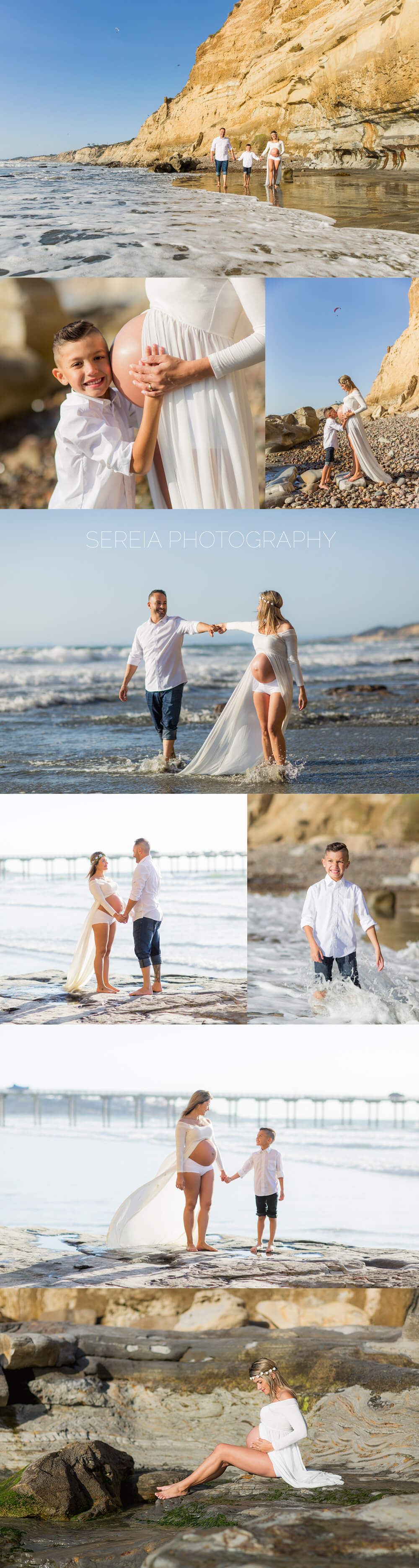 Maternity Session at Scripps Pier in La Jolla